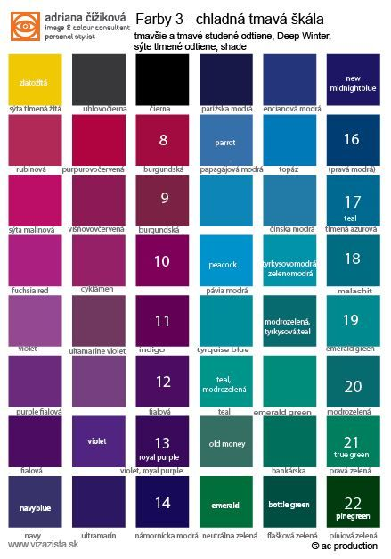 Dark winter winter and bold on pinterest for Dark blue color chart