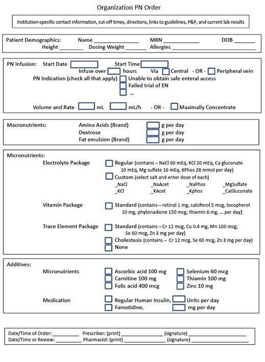 Total Parenteral Nutrition, Multifarious Errors | AHRQ Patient ...