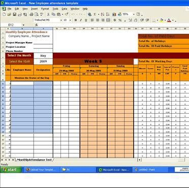 Automated Employee Attendance Template