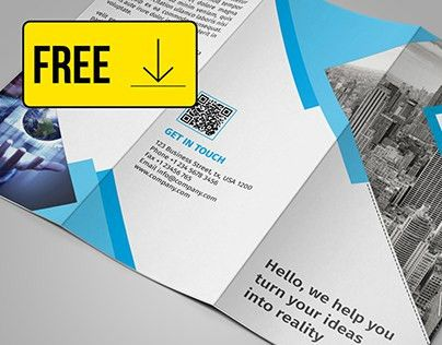 FREE Tri fold Brochure Template DOWNLOAD on Behance