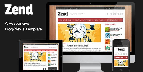 Zend - Responsive Blog/Magazine HTML template by YogsThemes ...
