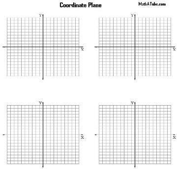 Coordinate Grid, Plane Charts