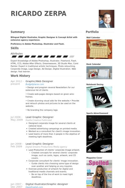 Web Designer Resume samples - VisualCV resume samples database