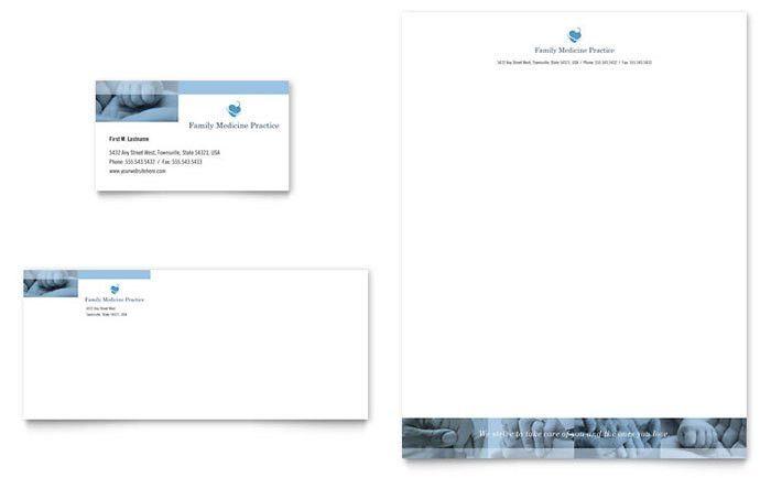 Family Doctor Business Card & Letterhead Template Design