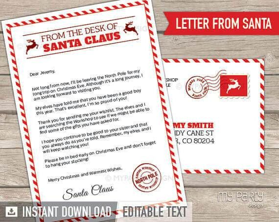 15 Printable Letters from Santa | Spaceships and Laser Beams
