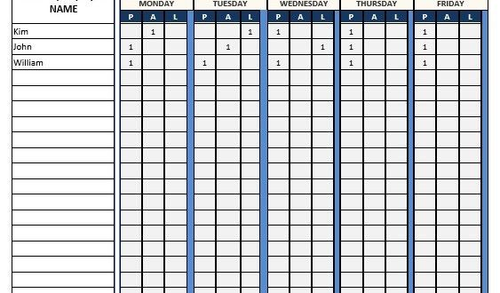 Attendance Sheet – Word Template – Microsoft Word Templates