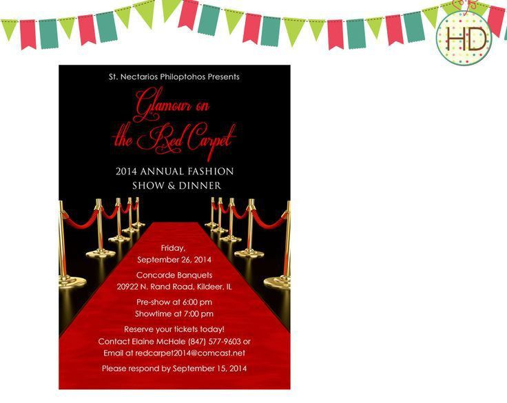 72 best Red Carpet Invitations images on Pinterest | Red carpets ...