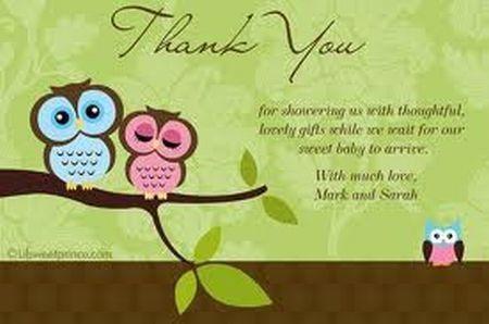 Thank You Cards Baby Shower Wording Samples : Amicusenergy.Com
