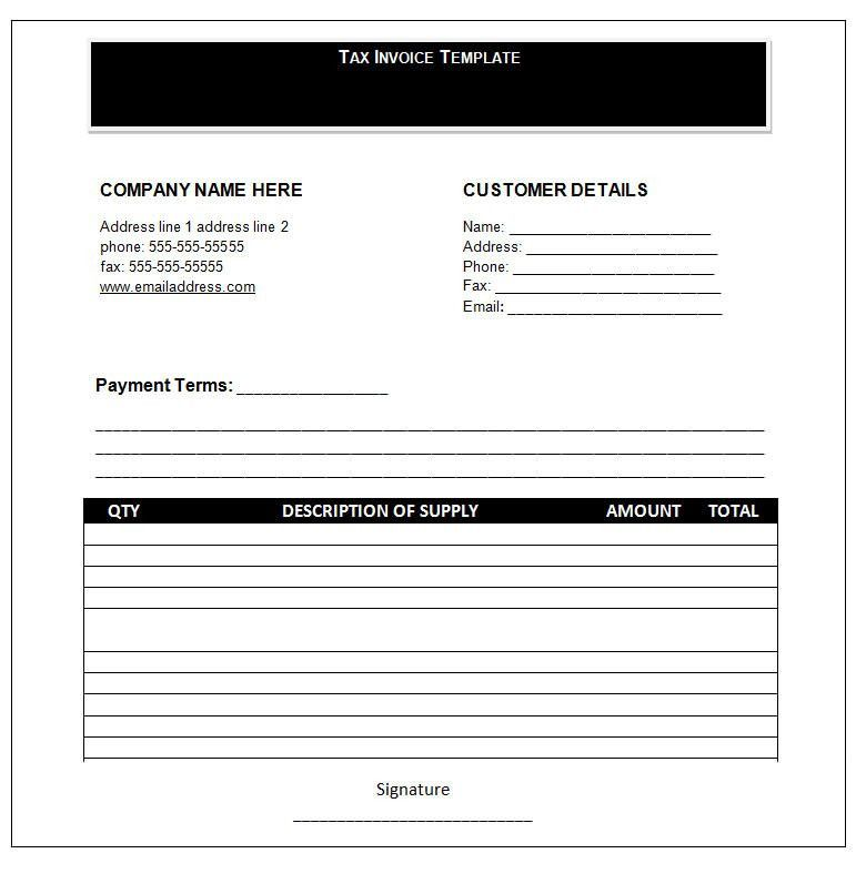 Word Invoice Template - Invoice Templates   Free & Premium Templates