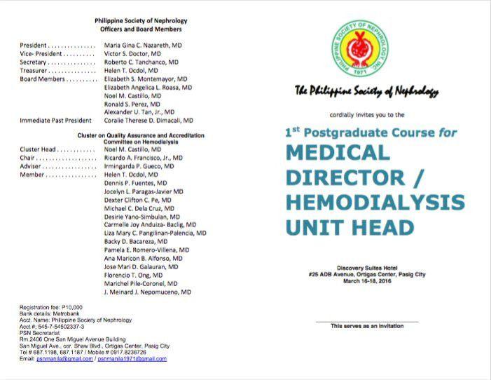 Hemo Heads Post-grad Course | 21 Apr 2016 | The Philippine Society ...