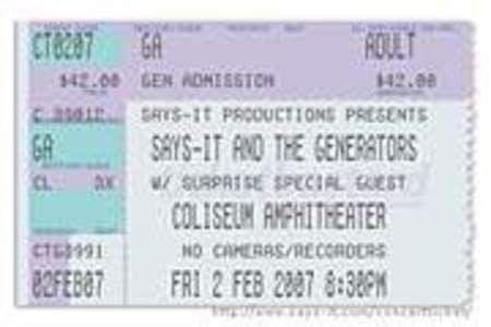 Silenced Majority Portal: Concert Ticket Generator: Make a Fake
