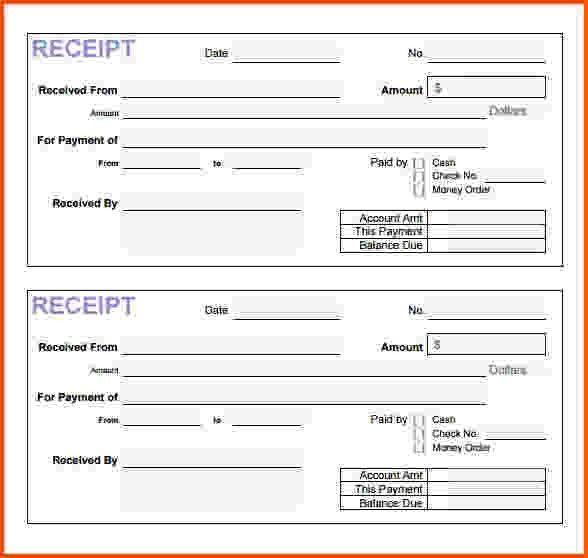 9+ payment receipt template | Survey Template Words