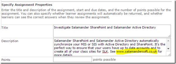 SharePoint Learning Kit – SalamanderSoft – Education Integration