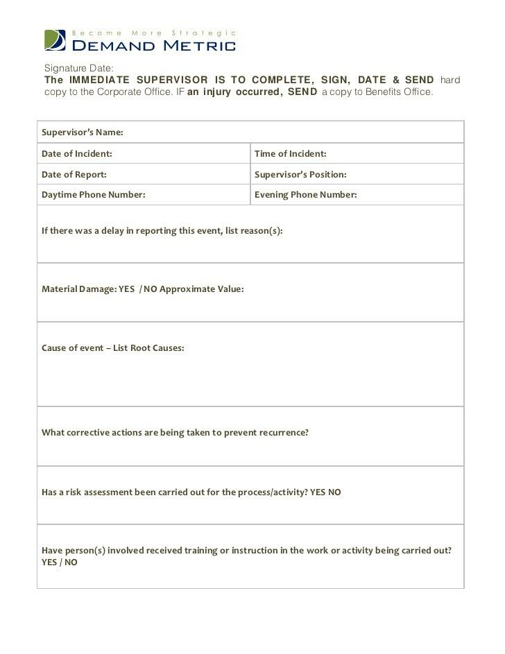 Incident Report Form