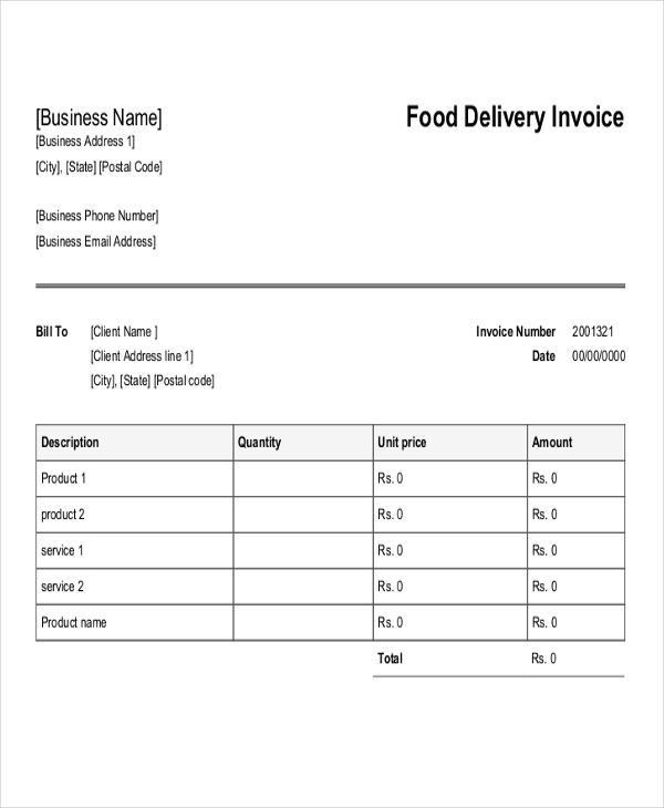 free word invoice template download