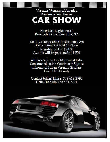 5 Free Car Show Flyer Templates - Excel PDF Formats