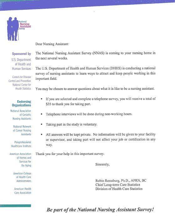 Cover letter sample for survey