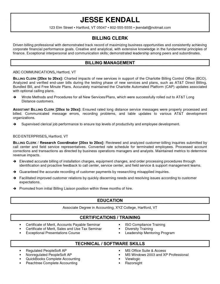 Accounts Payable Clerk Job Description Resume Accounts Payable .