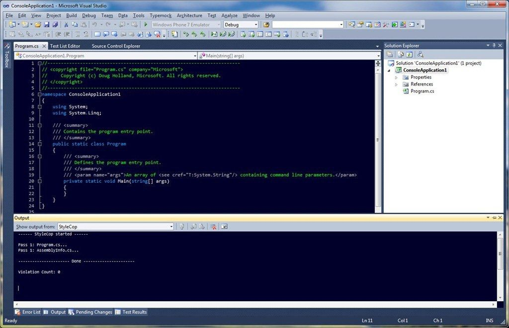StyleCop Compliant Visual Studio 2010 Code Snippets & Templates ...