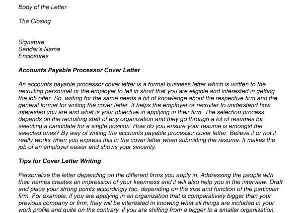 4 tips to write cover letter for accounts payable. sample resume ...