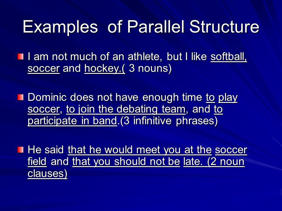 What is parallel structure? To identify faulty parallel structure ...