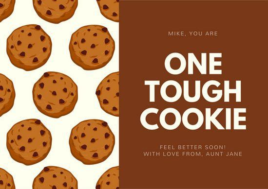 Cookie Pattern Get Well Soon Card - Templates by Canva