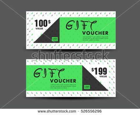 Green Gift Voucher Template Coupon Design Stock Vector 522330919 ...