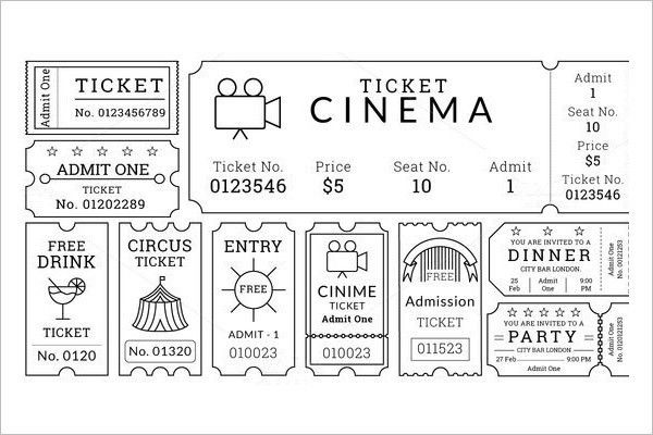 Raffle Ticket Template - Free Word, PDF Format Download | Creative ...