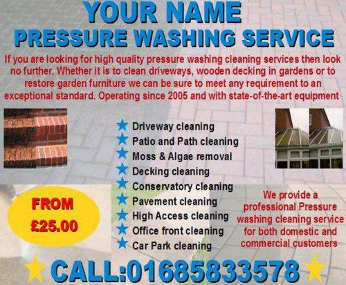 pressure washing cleaning Business Templates - Download Business