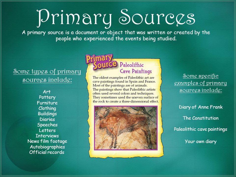 Primary & Secondary Sources Developed by Elin Richmond using ...