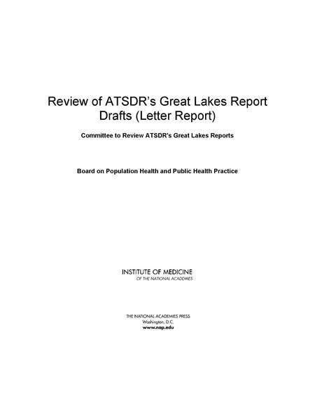 Review of ATSDR's Great Lakes Report Drafts: Letter Report | The ...