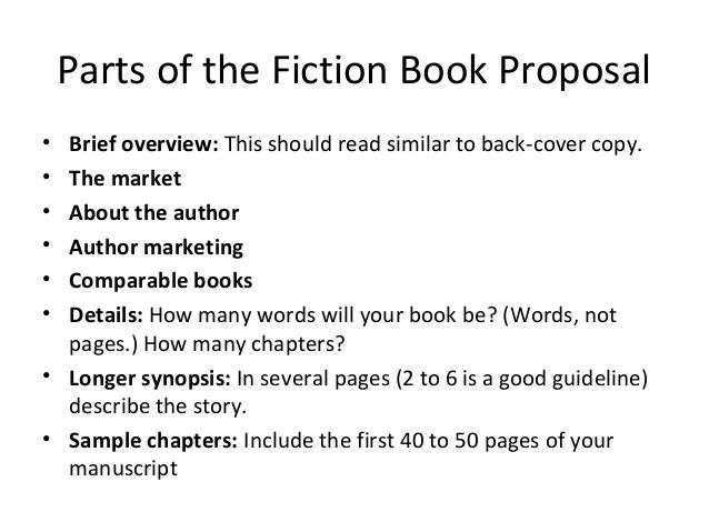 Writing the book proposal