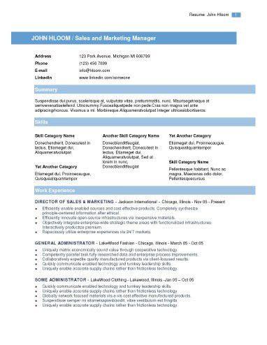 Contemporary Resume Templates | haadyaooverbayresort.com