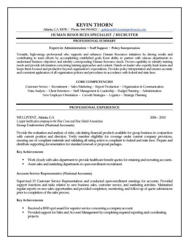 Download Human Resources Resume Objective | haadyaooverbayresort.com