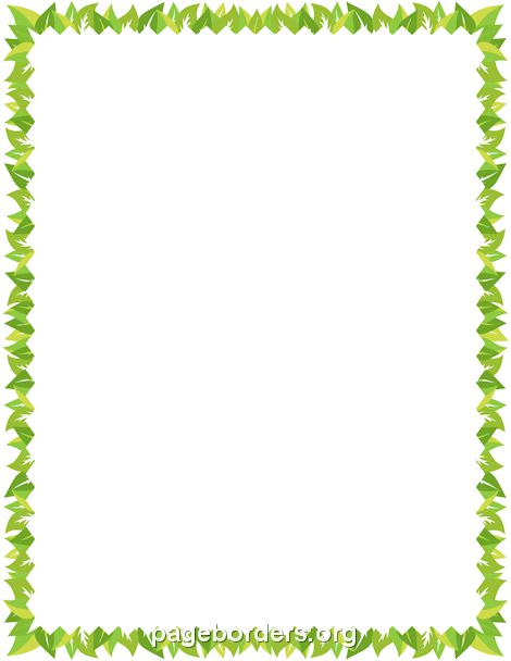 Printable leaf border. Use the border in Microsoft Word or other ...