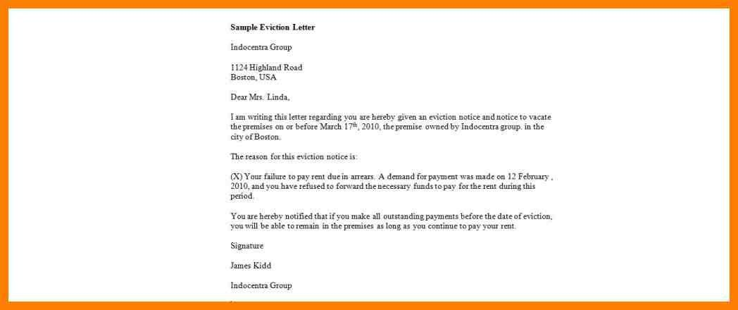 6+ how to write an eviction letter to a tenant   joblettered
