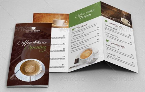 Coffee Shop Brochure Template - 12+ Download in