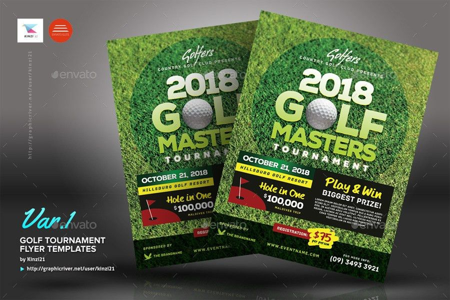 Golf Tournament Flyer Templates by kinzi21 | GraphicRiver
