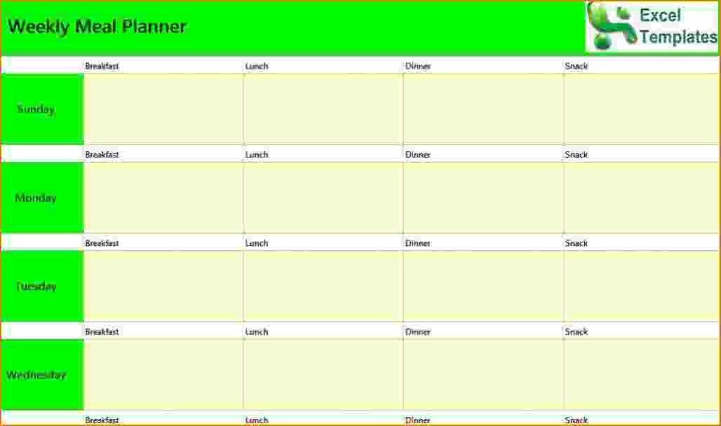5+ weekly planner template excel | teknoswitch