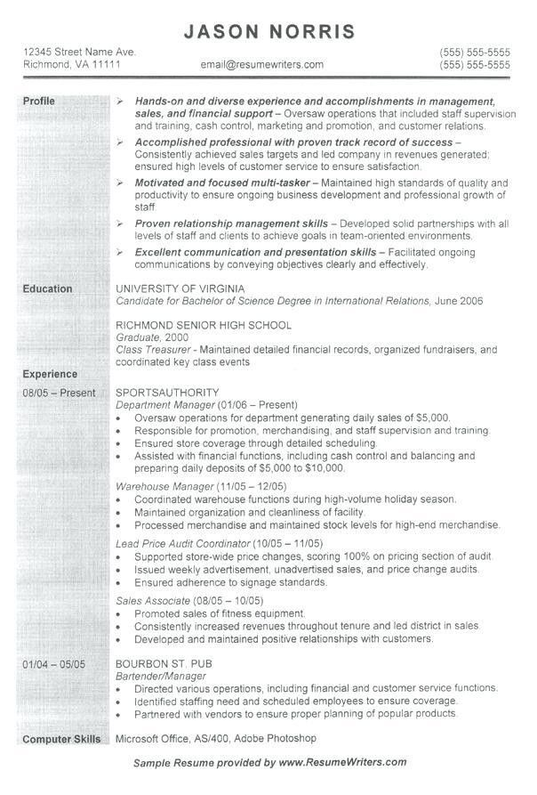 Example Resume For Graduate School Application Objective - Templates