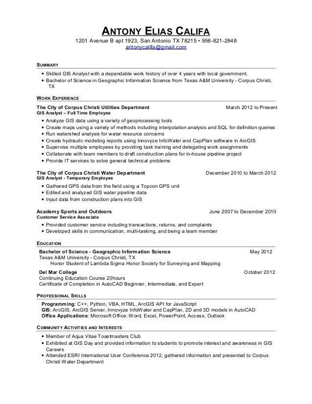 gis resume sample gis resume sample project engineer resume