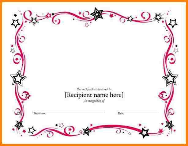 Sample Printable Certificate Template. 8+ Free Printable Blank ...