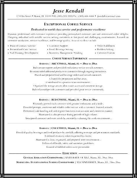 barista resume samples template and tips. how to write a perfect ...
