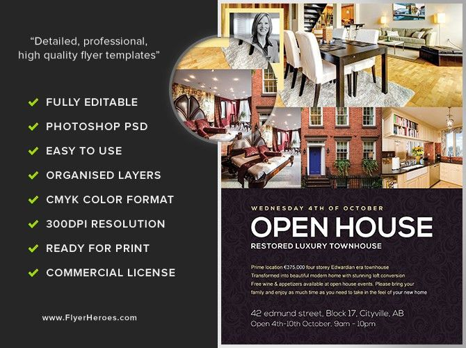 Open House Flyer Template - FlyerHeroes