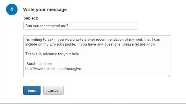 How to Ask for Recommendations on LinkedIn - Punched Clocks