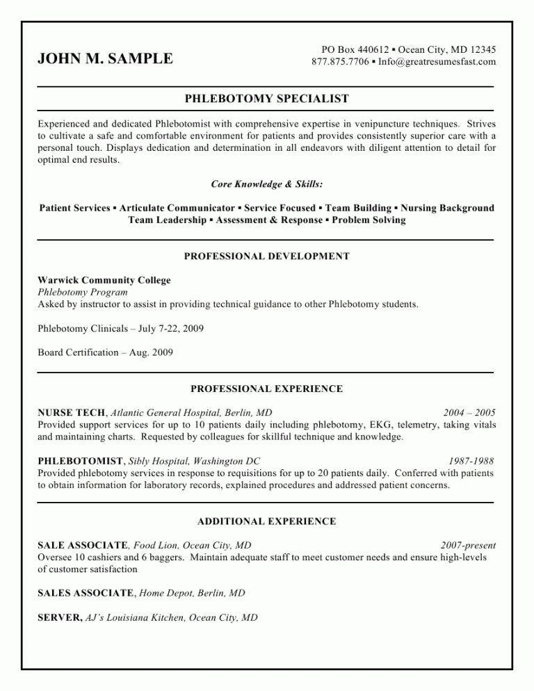 Cool Ideas Phlebotomist Cover Letter 8 Professional Resume Sample ...