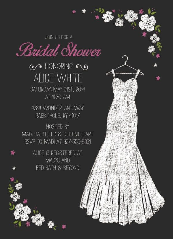 27+ Wedding Shower Invitation Templates | PSD Invitations | Free ...