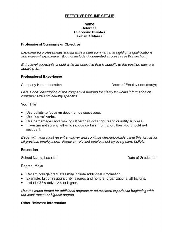 Resume Setup Examples. A Professional Two Page Investment Analyst ...