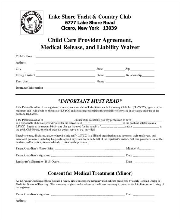 Sample Liability Release Forms - 10+ Free Documents in PDF, Word