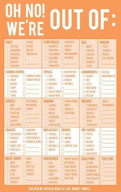 Best 25+ Grocery list printable ideas on Pinterest   Free ...